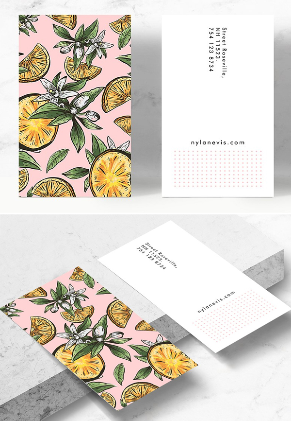 Lemon Crush Business Card Template