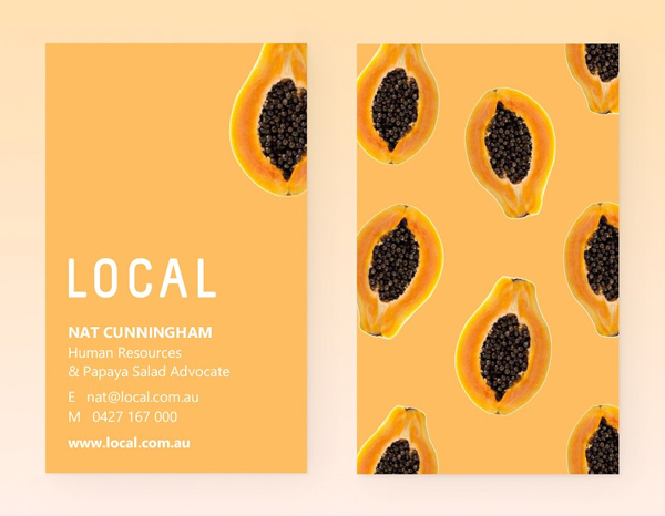 Local Papaya Business Cards