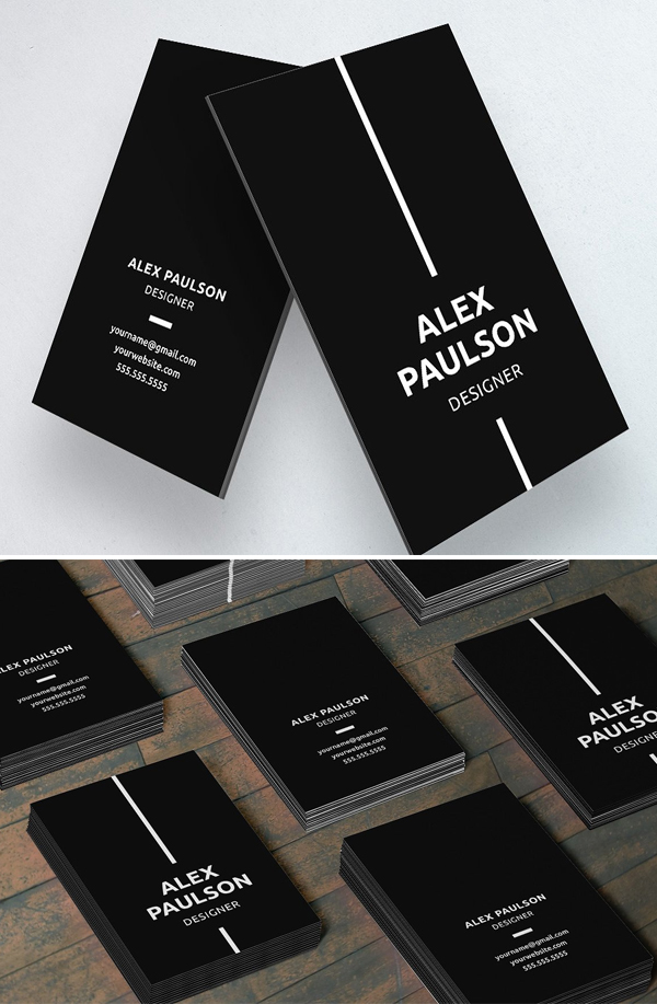 Black Simple Business Card