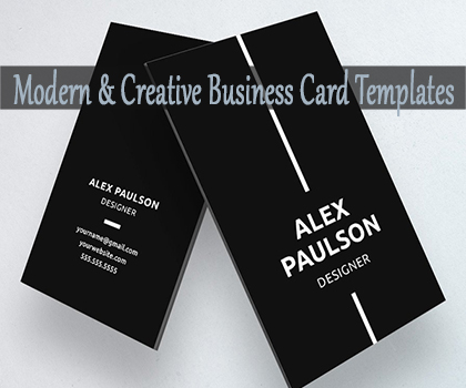 Post thumbnail of Modern & Minimal Business Card Templates Designs