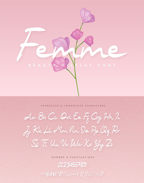 Femme Beauty Display Font