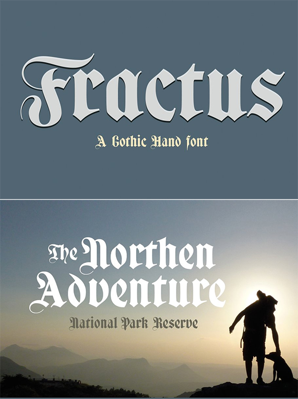 Fractus Display Font