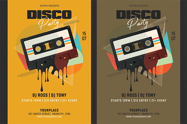 Disco Retro Night Party Flyer
