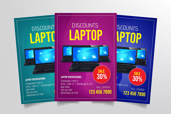 Laptop Sale Flyer Template