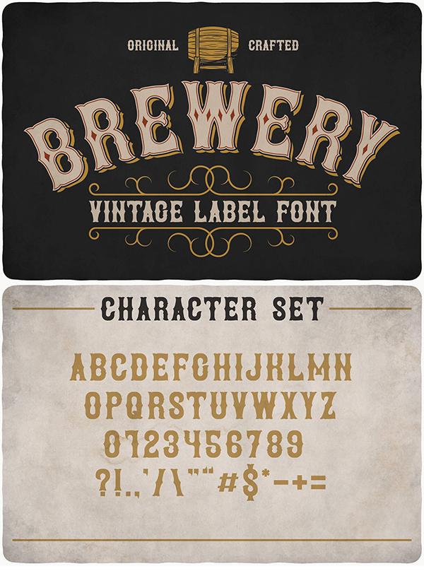 Brewery Label Font