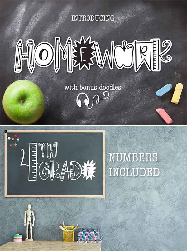 Homework - A School Teacher Font