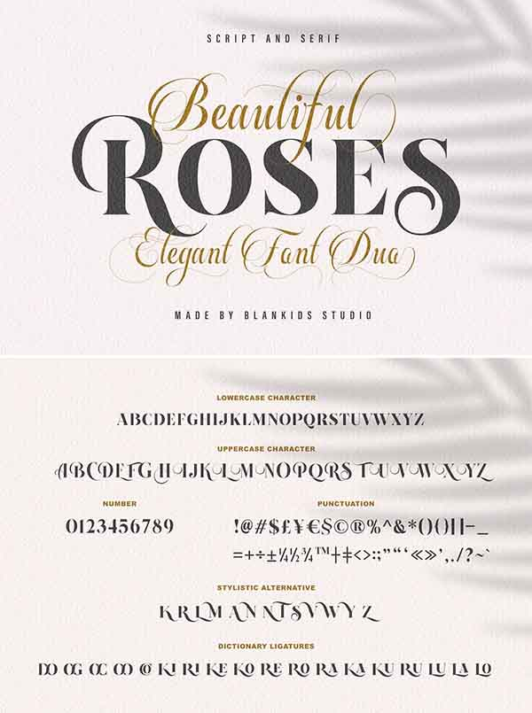 Beautiful Roses - Font