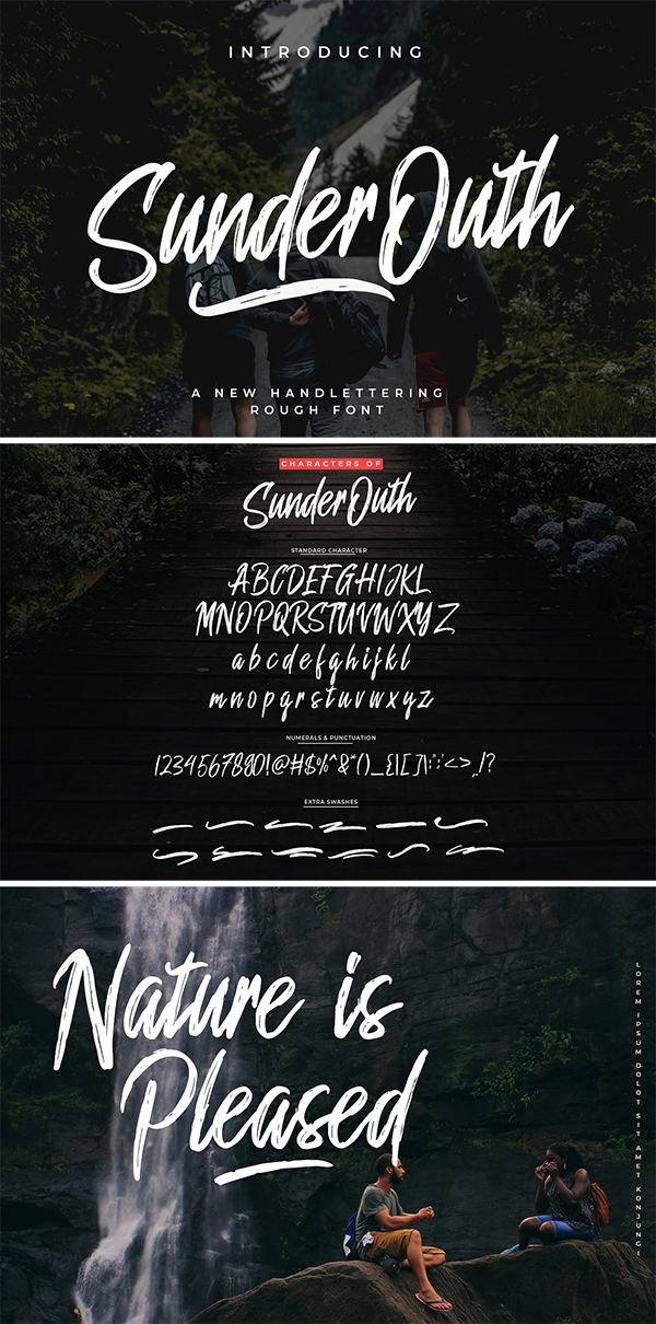 60 Best Brush Fonts For Graphic Designers - 56