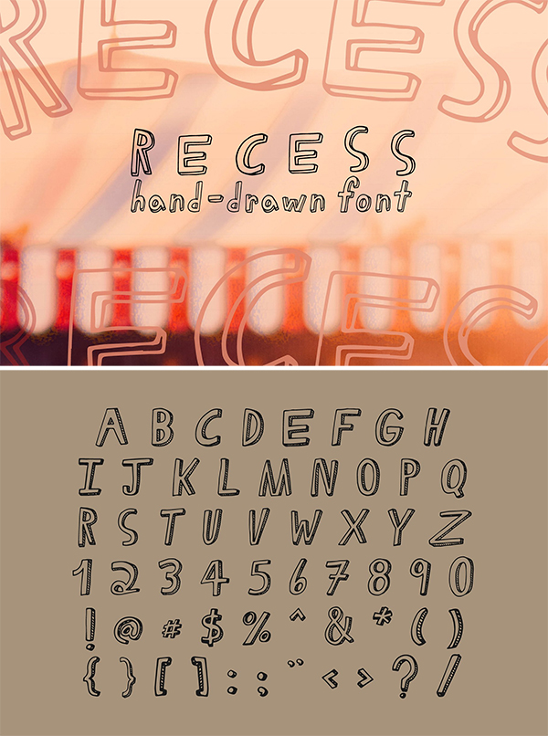 Recess | Regular & Light Font