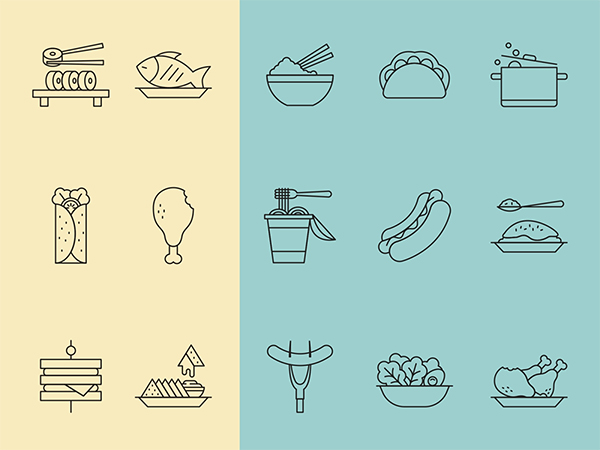 Restaurant Food Icons