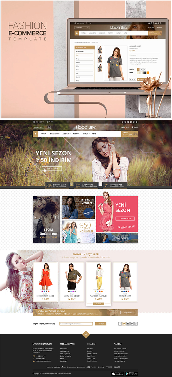Freebie : Awesome Fashion Web Template (E commerce)