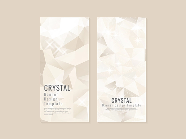 Beige Crystal Textured Banner Template