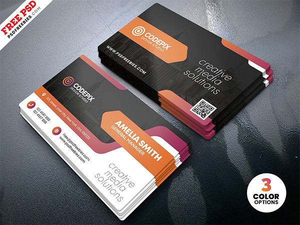 Creative Business Card Print PSD Template