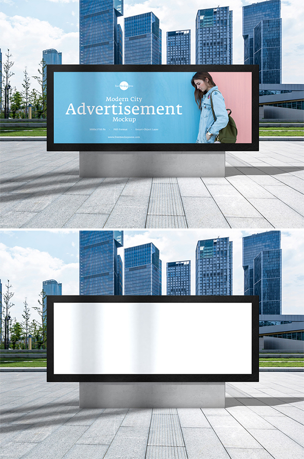 Free Download Attractive Outside Advertisement Billboard Mockup (PSD)