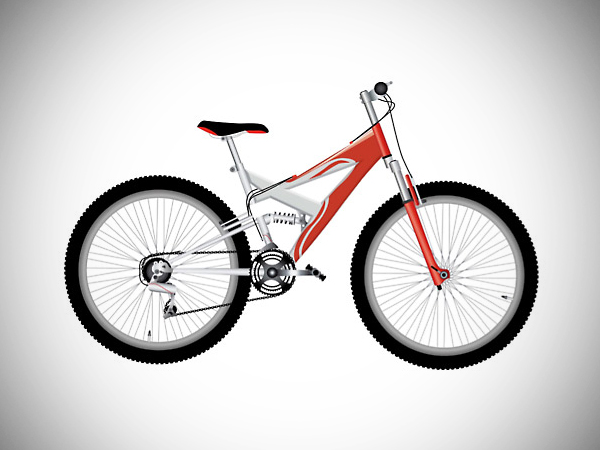 How to Create Vector Red Bike