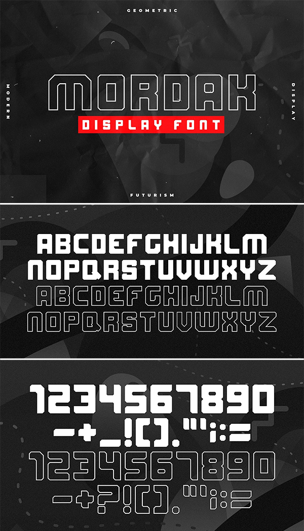 Mordak - Display Futurism Font