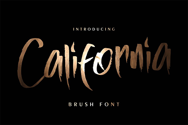 California Brush Font