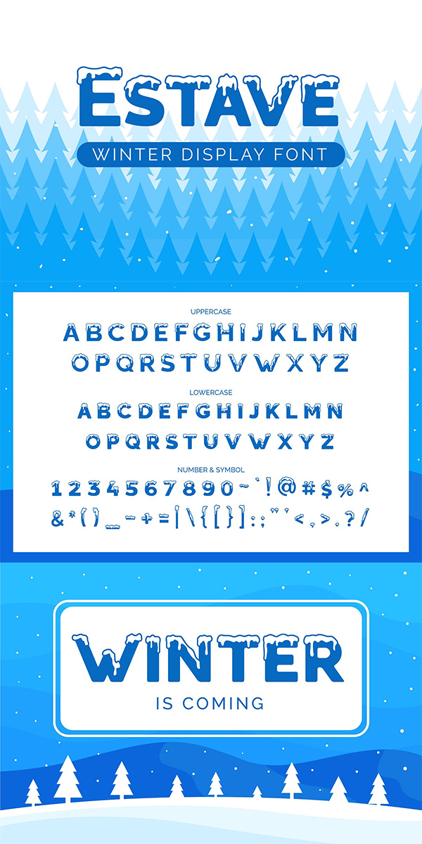 Estave - Winter Display Font