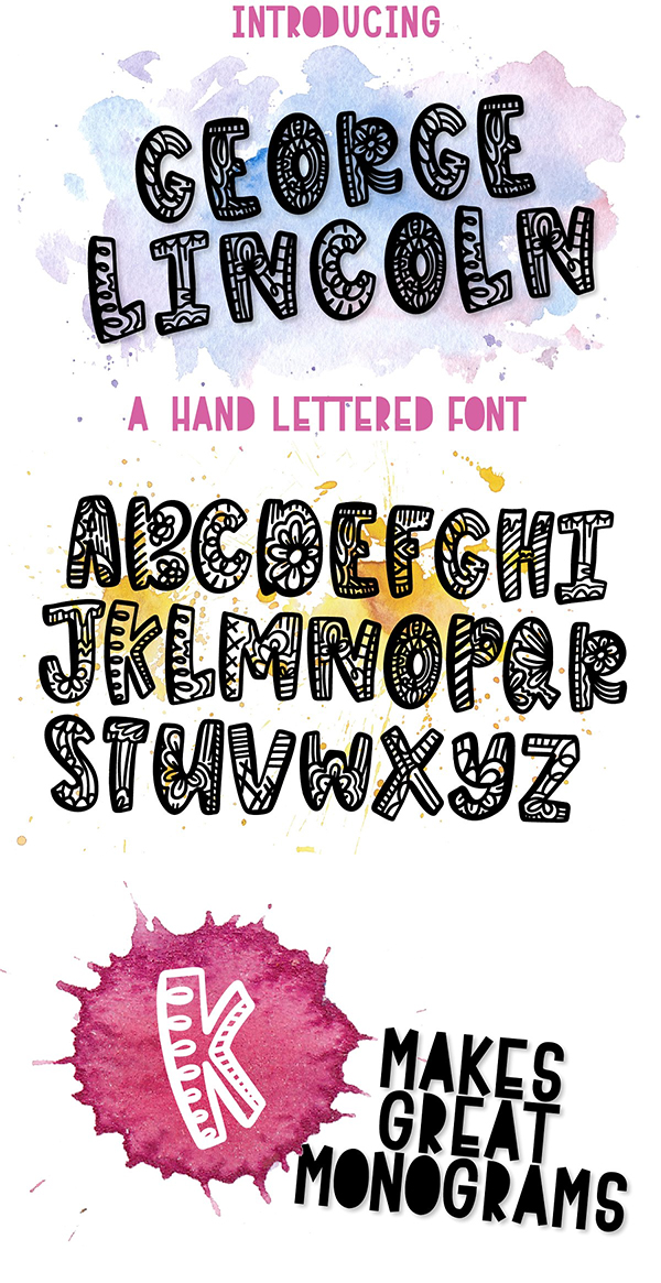 George Lincoln - A Silly Drawn Font
