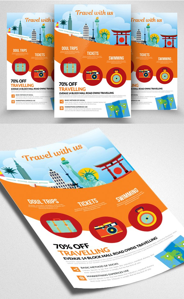 Tour Travel Flyer Template