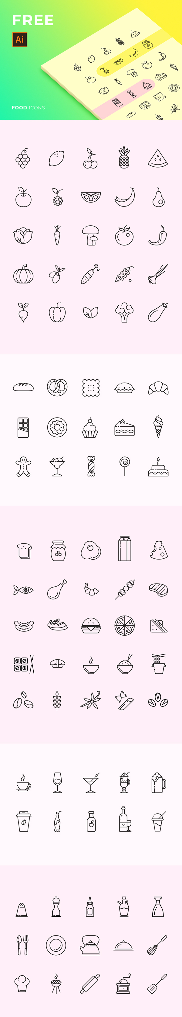 Food and Drink Free Icons