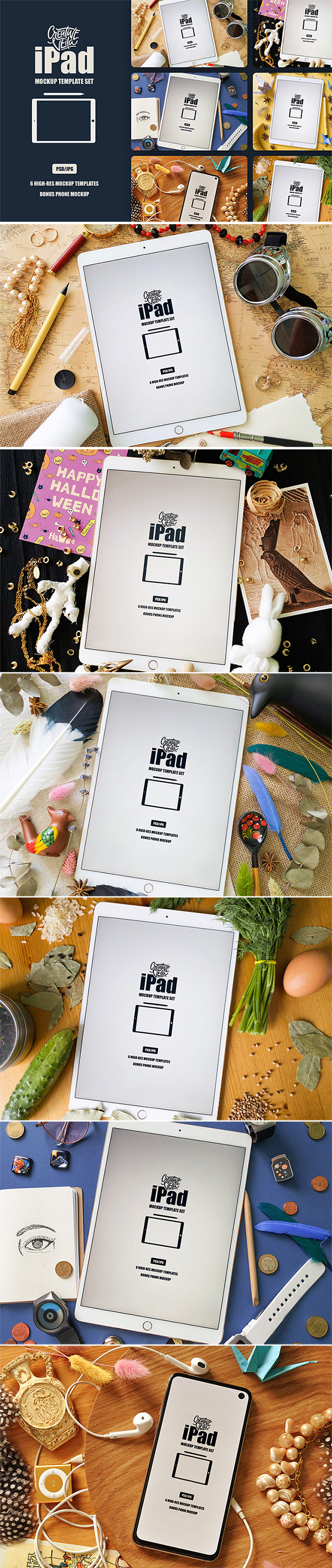 Free Download Awesome High Resolution iPad Mockup Templates