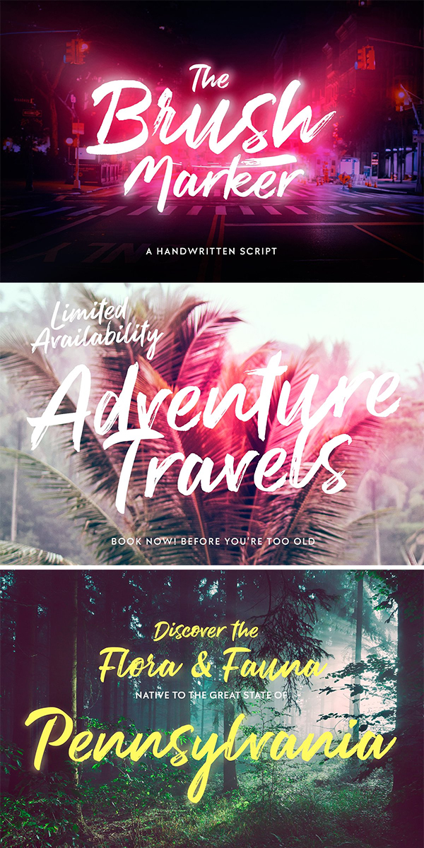 60 Best Brush Fonts For Graphic Designers - 15