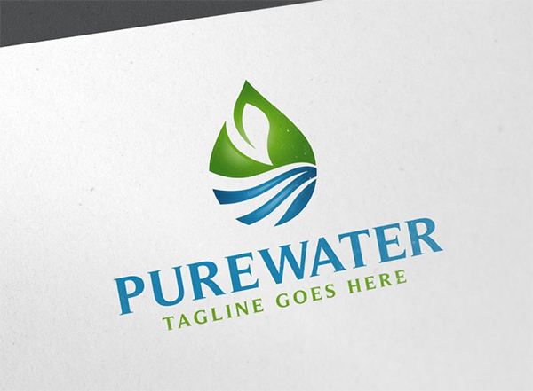 Pure Water Logo Template
