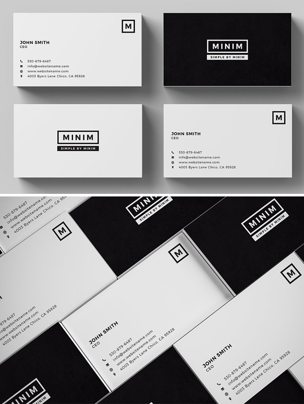 Minim - Simple Clean Business Card