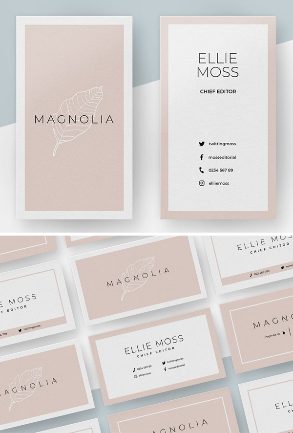 Magnolia Business Card Template