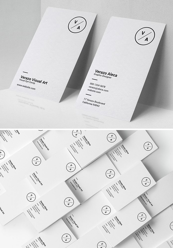 Clean Minimalist Business Card