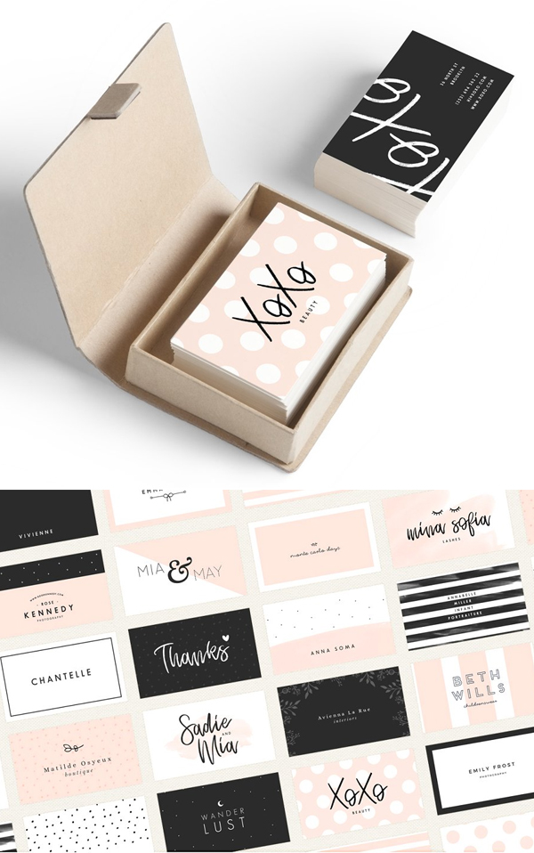 Feminine Business Card Template