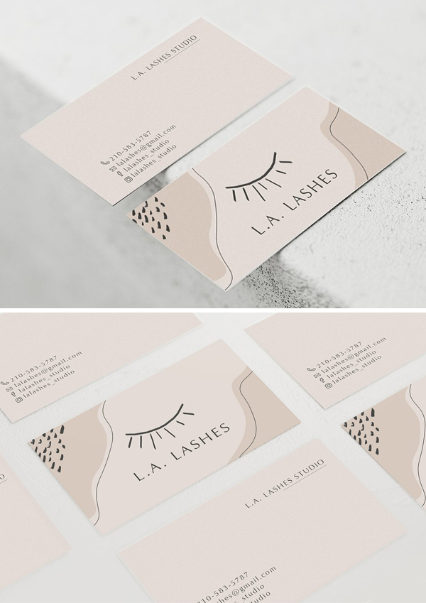 Lashes Business Card Template