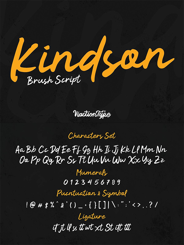 Kindson Brush Script