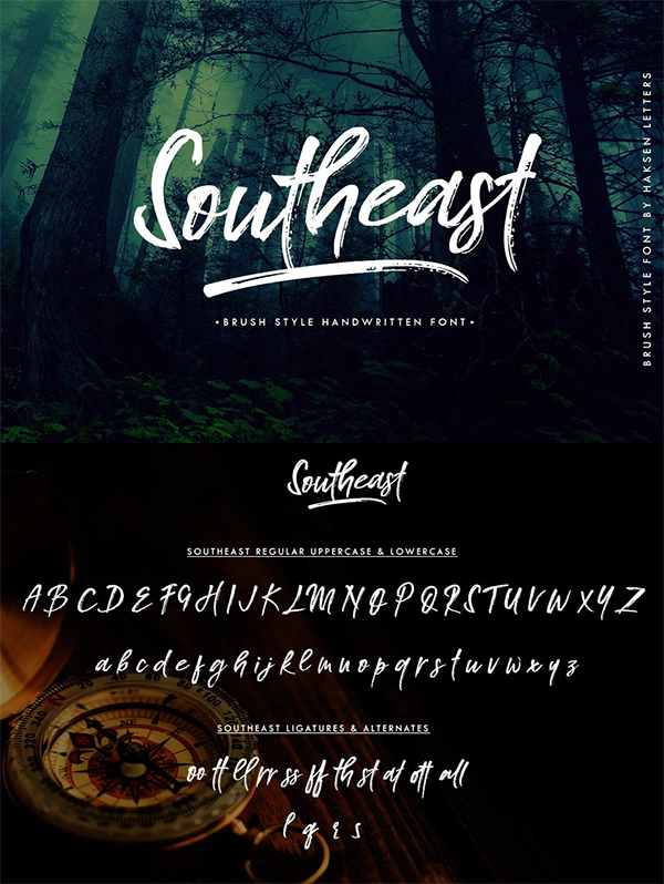 60 Best Brush Fonts For Graphic Designers - 44