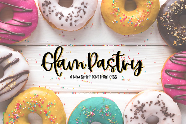 Glam Pastry Script Font