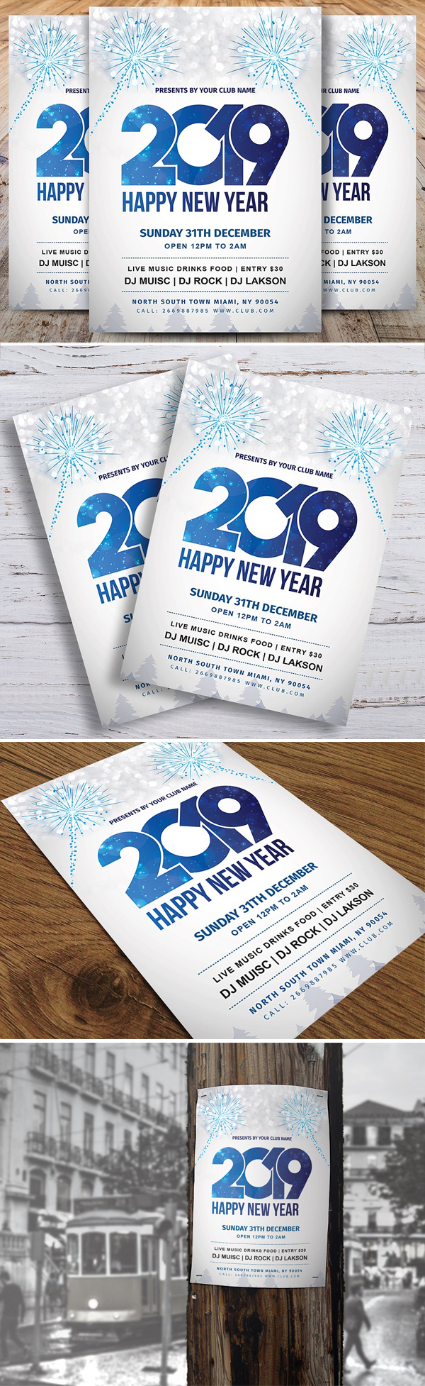 Simple New Year Party Flyer