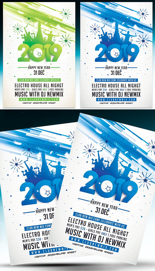 New Year 2019 Party Flyer