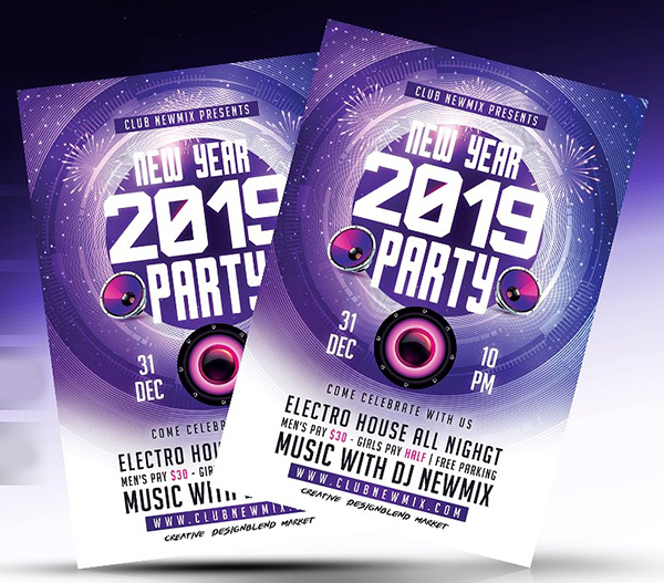 Colorful New Year Flyer Template