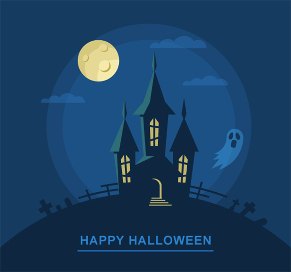 Create a Bootiful Haunted House Halloween Vector Background