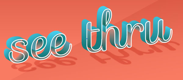 How to Create A 3D See Through Text Effect