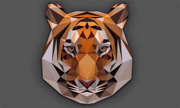 Low Poly Tiger Head