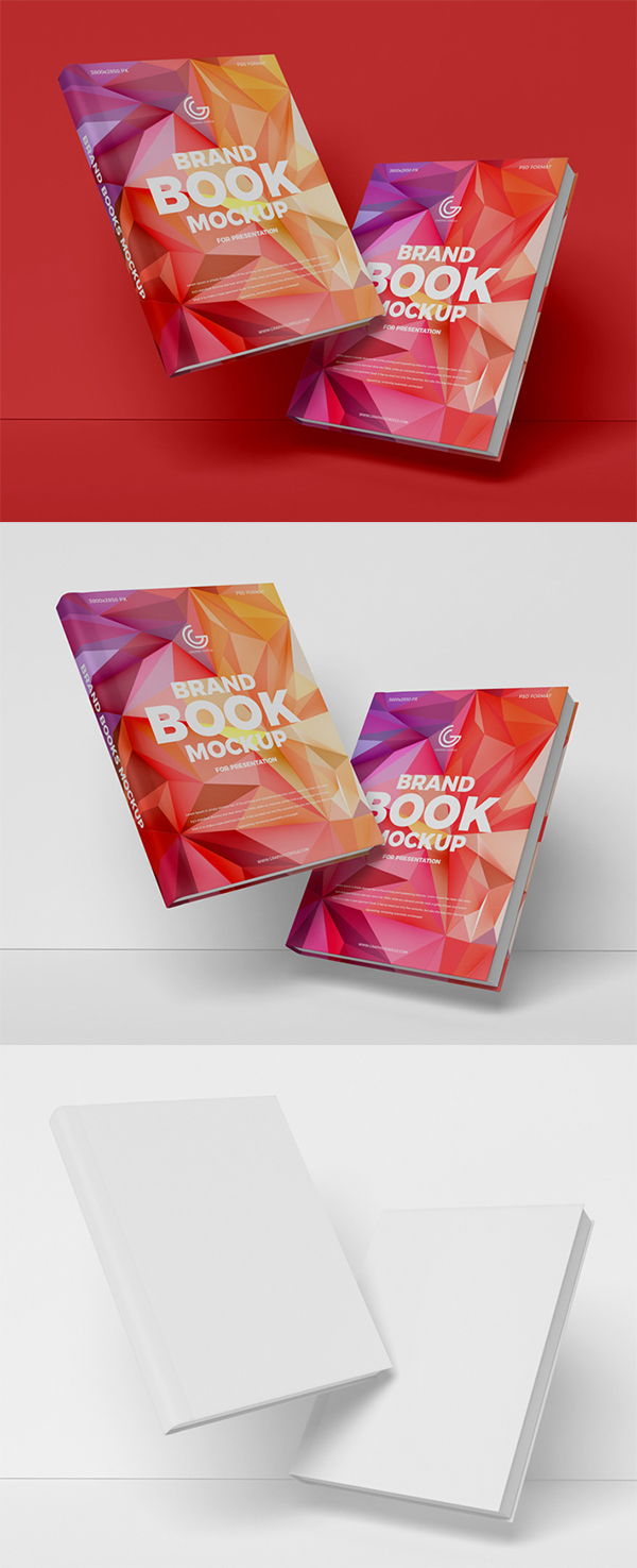 Free Download Creative Brand Books PSD Mockup (2019)