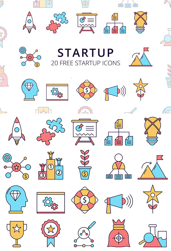 Free Download Useful Startup Icon Set (Vector)