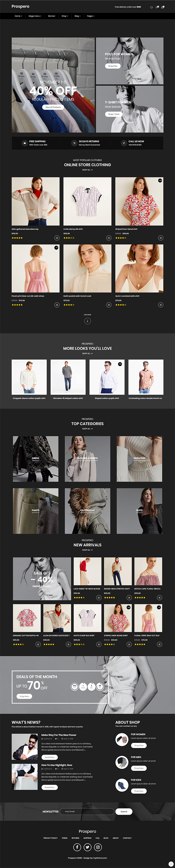 Prospero - Fashion Jewelry Watch and Glasses WooCommerce Theme