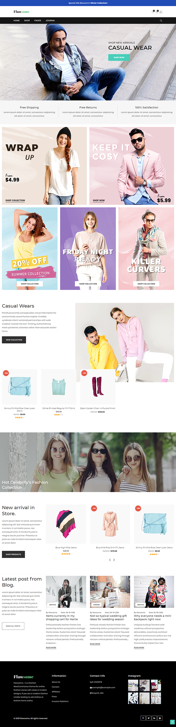 Flawsome - Fashion WordPress Theme