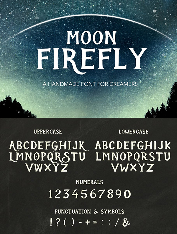 Moon Firefly Font