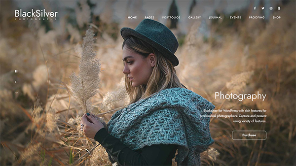 Blacksilver | Photography Theme for WordPress
