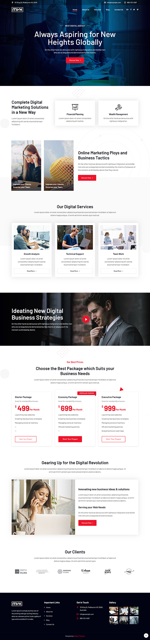 Myx - Business Multi-purpose WordPress Theme