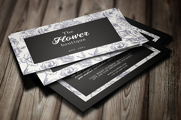 Flower Boutique Business Card